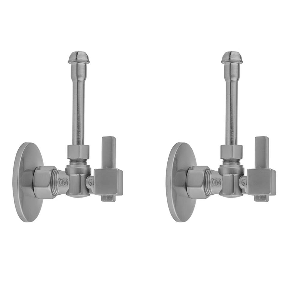 Cover Tube and Bell Escutcheon Kit Jaclo 622-2-62CT-SC 5//8 x 3//8 OD Compression Valve with Contemporary Round Lever Handle Satin Chrome